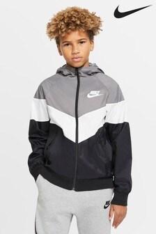 Nike Black Chevron Windrunner Jacket