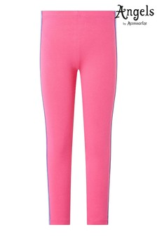Angels by Accessorize Pink Rainbow Stripe Leggings