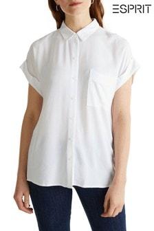 Esprit White Short Sleeve Blouse