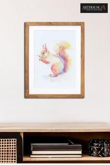 Splash Squirrel Framed Print by Arthouse