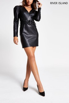 River Island Black Fowler Bodycon Dress
