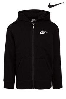 Nike Little Kids Black Club Fleece Full Zip Hoody