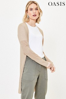 Oasis Grey Wrap Knit Cardigan