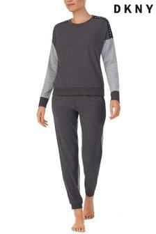 DKNY Grey Long Sleeve Top & Joggers Set