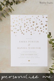 Personalised Confetti Evening Invitation by Wedding Graphics