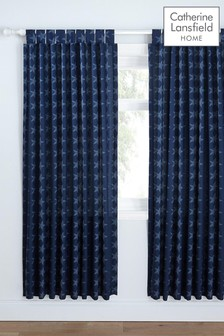 Stars And Stripes Lined Tab Top Curtains by Catherine Lansfield