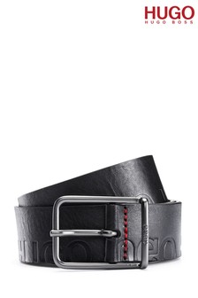 HUGO Black Logo Belt