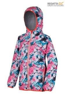Regatta Pink Printed Lever Waterproof Jacket