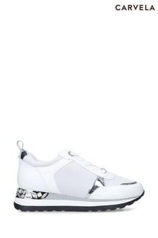 Carvela White Jemm Trainers