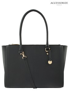 Accessorize Black Lenny Tote Bag