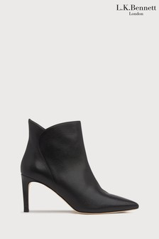 L.K.Bennett Black Maja Leather Ankle Boots