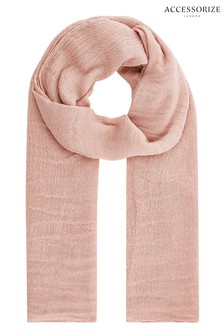 Accessorize Pink All Over Metallic Scarf