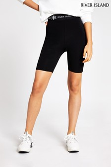 River Island Black Waistband Cycling Shorts
