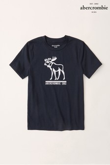 Abercrombie & Fitch Navy Logo T-Shirt