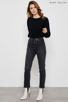Mint Velvet Washed Black Houston Slim Jeans