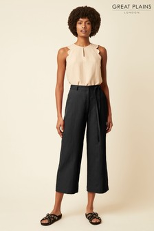 Great Plains Black Capri Blend Trousers