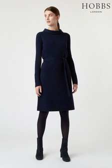 Hobbs Navy Audrey Knitted Dress