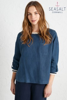 Seasalt Blue Trevescan Top