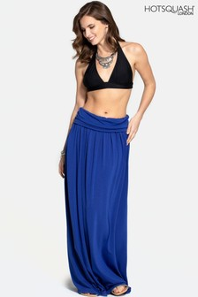 HotSquash Blue Roll Top Maxi Skirt