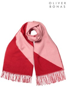 Oliver Bonas Spliced Red Midweight Scarf