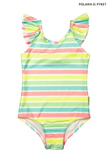 Polarn O. Pyret Pink Multi Stripe Swimsuit