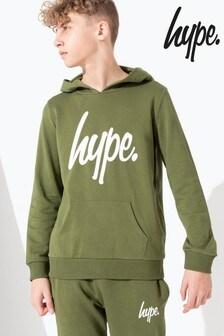 Hype. Khaki Script Kids Pullover Hoody