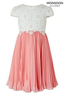 Monsoon Cream Freya Daisy Lace Dress