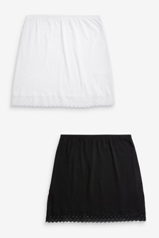 Cotton Short Half Slips 2 Pack