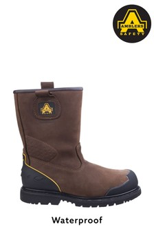 Amblers Safety Brown FS223 Goodyear Welted Waterproof Industrial Safety Boots