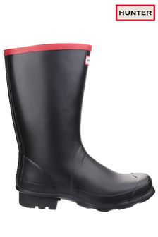 Hunter Black Argyll Short Knee Wellington Boots