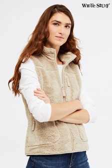 White Stuff Cream Borg Gilet