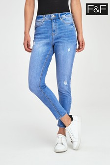 F&F Push Up Bright Blue Jeans