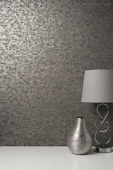 Decorline Gold Small Bricks Wallpaper