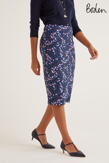 Boden Blue Kensington Pencil Skirt