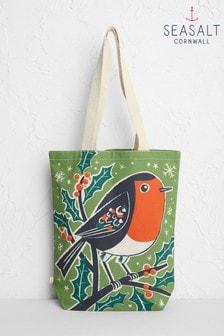Seasalt Green Canvas Shopper Bag