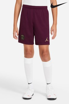 Nike Burgundy PSG Third 20/21 Kids Football Shorts