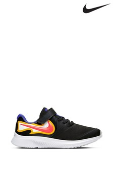 Nike Run Black Flame Star Runner Junior Trainers