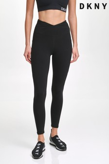 DKNY Black High Waist Zip Leggings