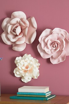 Set of 3 Floral Wall Art