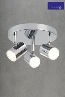 Mearns Dim 3 Light Cylinder Spotlight Plate by Searchlight
