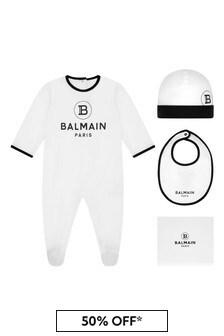 Balmain Baby Girls Cotton Babygrow