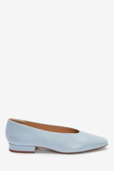 Signature Leather Chisel Toe Ballerinas