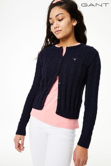 GANT Teen Girls Cotton Cable Cardigan