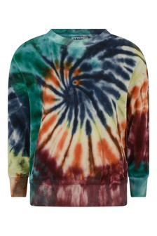 Kids Tie Dye Swirl Cotton Sweater