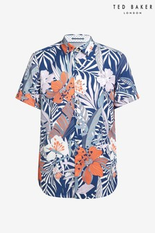 Ted Baker Clapp Bold Leaf Print Shirt