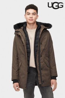 UGG® Mens Olive Butte Parka Coat