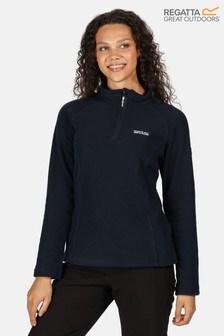 Regatta Blue Womens Half Zip Kenger Fleece