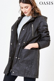 Oasis Grey Premium Hooded Raincoat