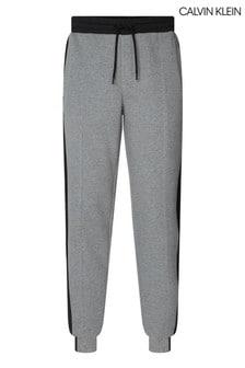 Calvin Klein Grey Mixed Media Logo Sweatpants