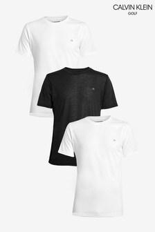 Calvin Klein Golf White T-Shirts Three Pack